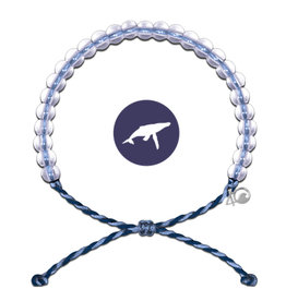 4Ocean Glass Bead Bracelet Whale Lt. Blue/Purple