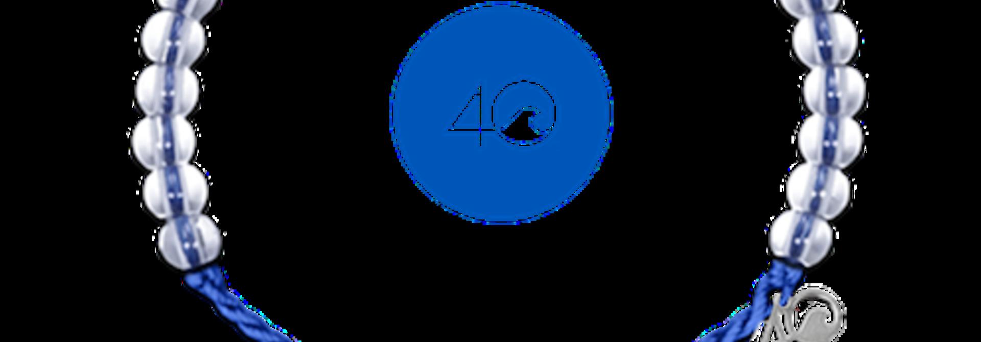 Glass Bead Bracelet Signature Blue