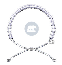 4Ocean Glass Bead Bracelet Polar Bear White