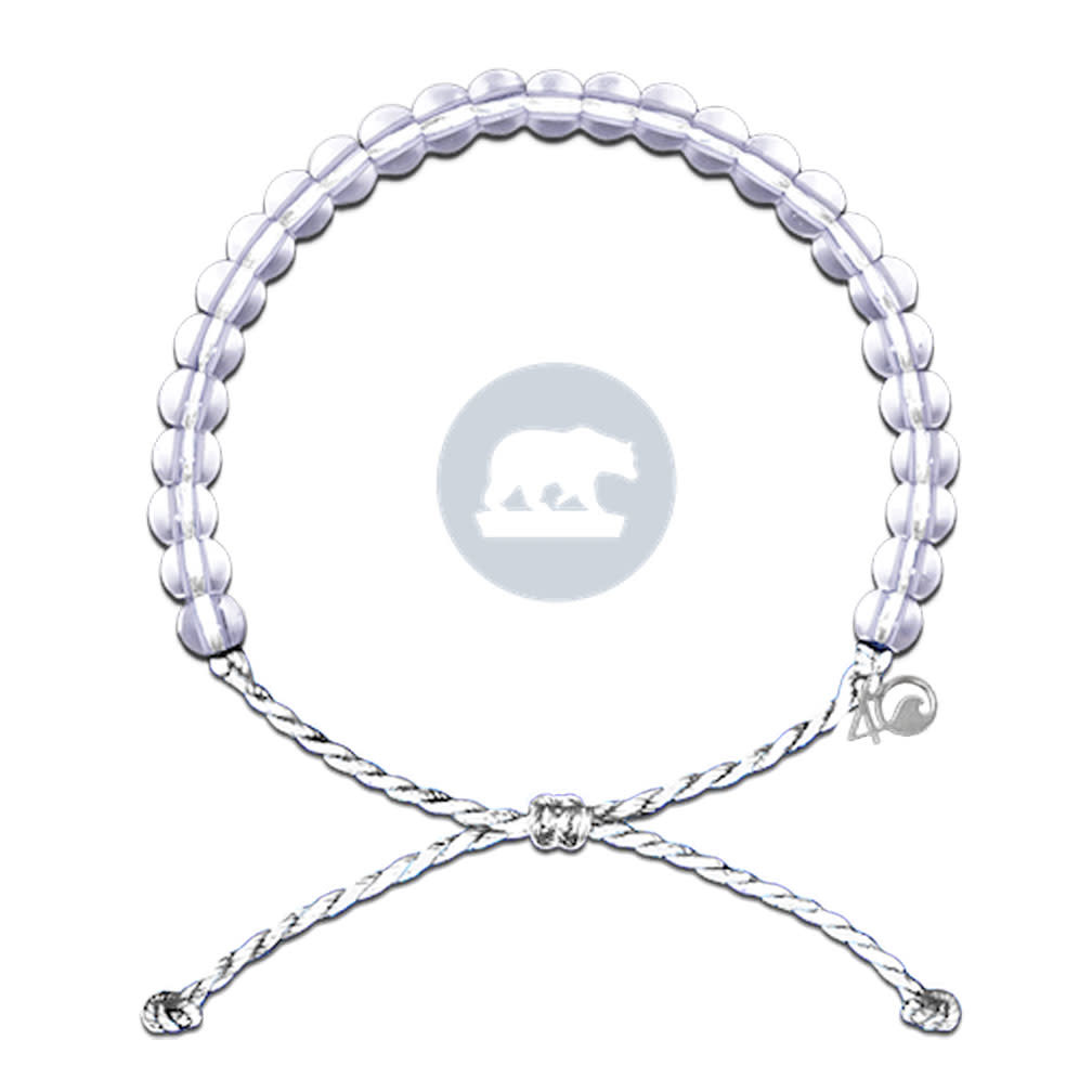 4Ocean Glass Bead Bracelet Polar Bear White