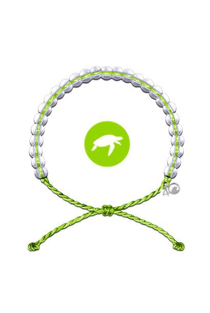 Glass Bead Bracelet Sea Turtle, Lime