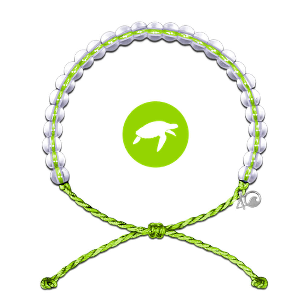 Glass Bead Bracelet Sea Turtle, Lime-1