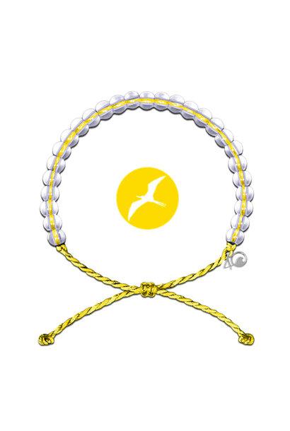 Glass Bead Bracelet Seabirds, Yellow