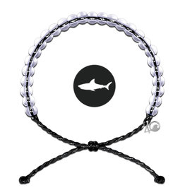 4Ocean Glass Bead Bracelet Shark Black