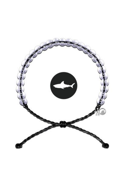Glass Bead Bracelet Shark Black