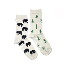 Friday Sock Company Womens Bear And Trees
