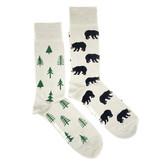 Friday Sock Company Mens Bear and Trees