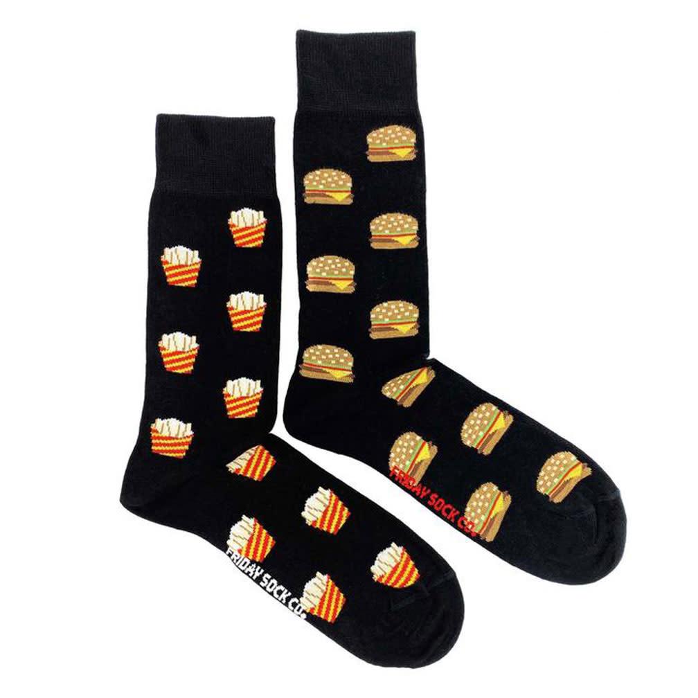 Friday Sock Company Mens Burgers And Fries