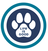 Life is Good 4in Circle Sticker Paw Coin Sticker