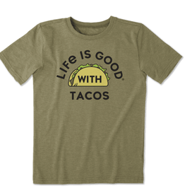 Life is Good B SS Cool T LIG With Tacos, Fatigue Green