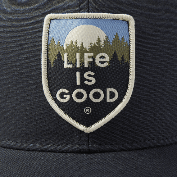Life is Good Hard Mesh Back Scenic Crest, Night Black