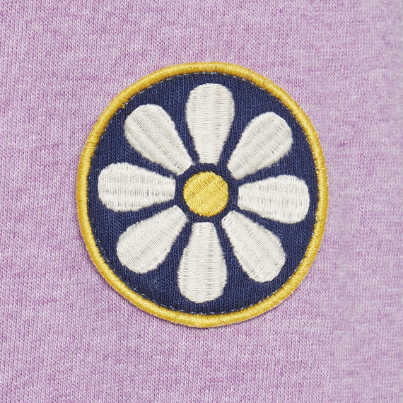 Life is Good W Simply True Zip Daisy Embroidery, Happy Grape