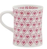 Life is Good Diner Mug Heart, Fiesta Pink