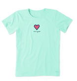 Life is Good W Vintage Crusher Heart, Bermuda Blue