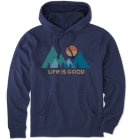 Life is Good M Simply True Hoodie Mountainamilist, Darkest Blue