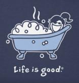 Life is Good W Vintage Crusher Bubble Bath, Darkest Blue
