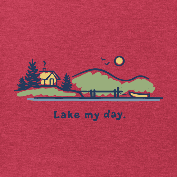Life is Good M Vintage Crusher Lake My Day, Heather American Red