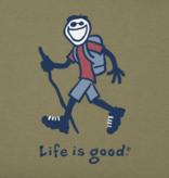 Life is Good M Vintage Crushed Hiking Jake, Fatiuge Green