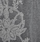 Life is Good W Slub Tee Dress Blooming Embroided, Slate Grey