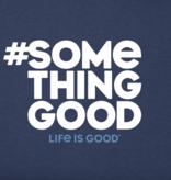 Life is Good W Crusher Vee Something Good, Darkest Blue