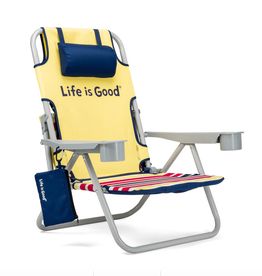 Life is Good Daisy Beach Chair, Yellow