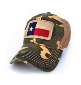 S.L. Revival Co. Texas Flag Patch Trucker Hat, Camo