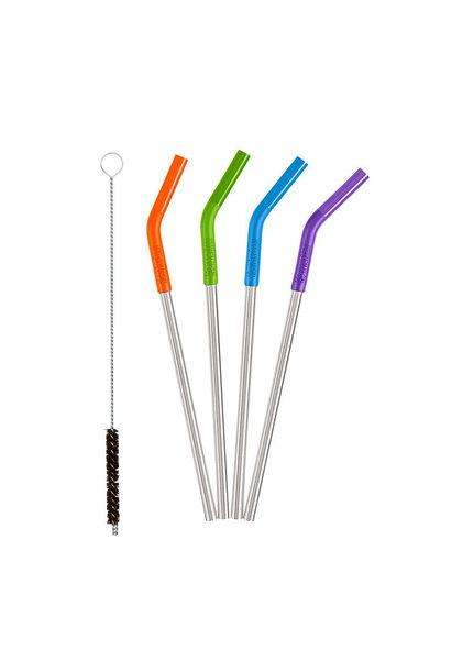 Steel Straws, 4 Pack, Multi Colors