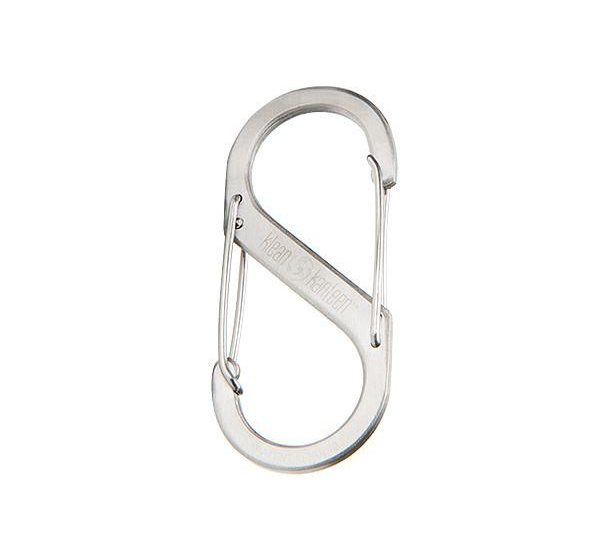 Steel S-Biner, Brushed Stainless-1