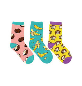 Socksmith Kid's Spunky Monkey 3 Pack