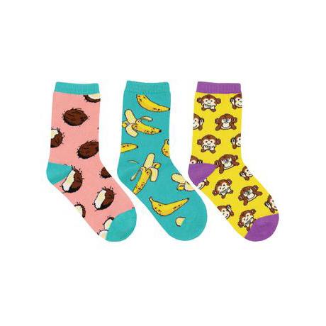 Socksmith Kid's Spunky Monkey 3 Pack