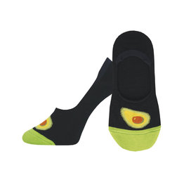 Socksmith W's Avocatoes, No Show, Black