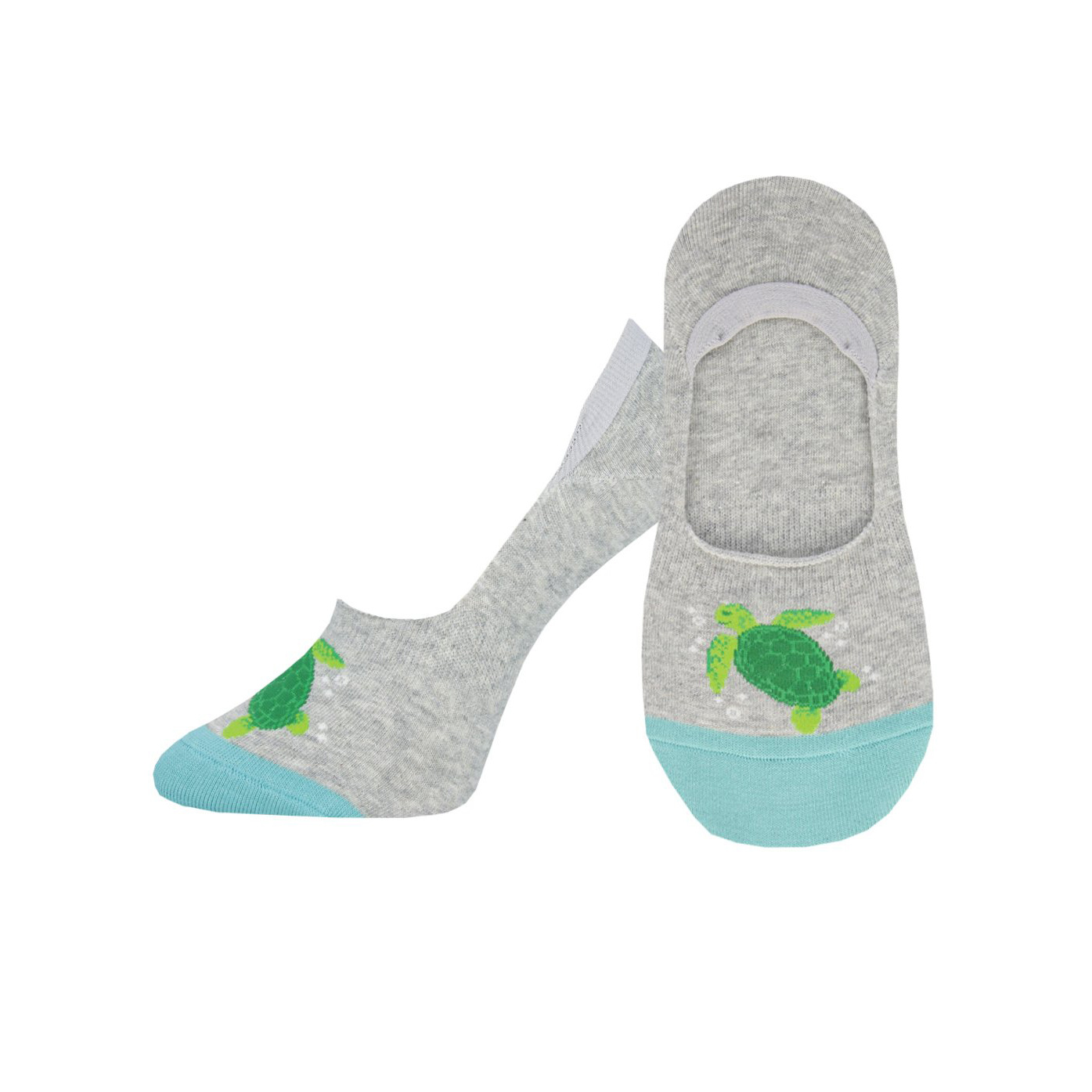 Socksmith W's What The Shell, No Show, Gray Heather
