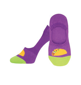 Socksmith W's Taco Toesday, No Show, Purple