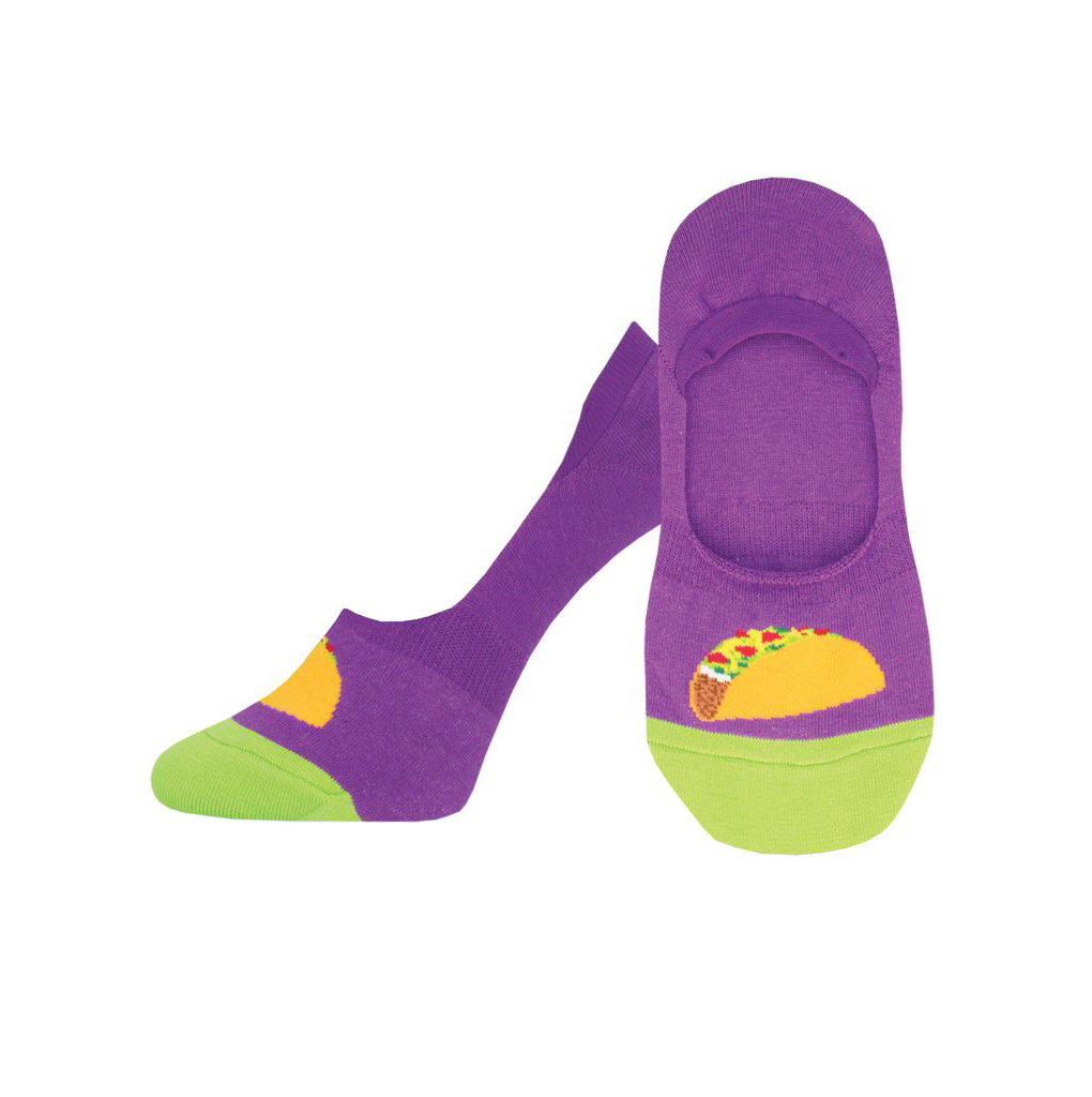 Socksmith W's Taco Toesday, No Show, Purple