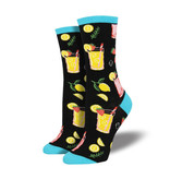 Socksmith W's Easy Peasy Lemon Squeezy, Black
