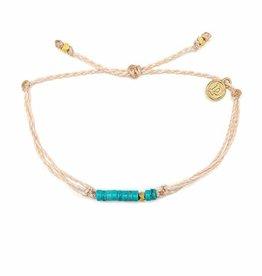 Puravida Gold Heshi Bead Bracelet, Vanilla