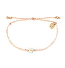 Puravida Gold Daisy Bracelet, Blush