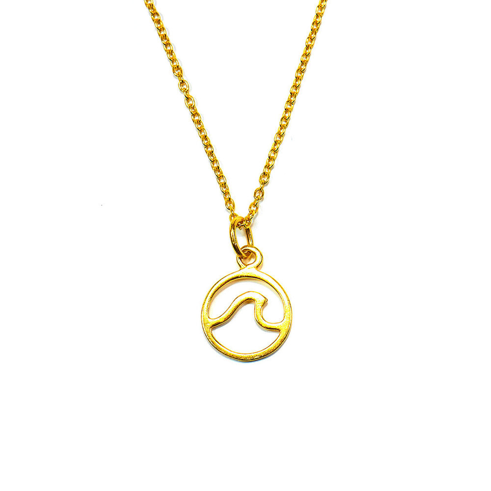 Puravida Wave Necklace, Gold