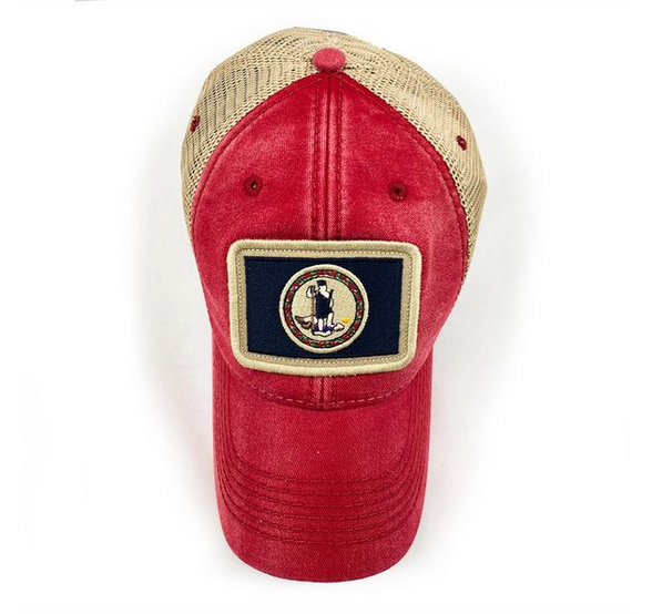 S.L. Revival Co. Virginia Flag Trucker Hat, Nautical Red
