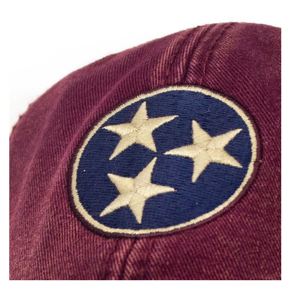 S.L. Revival Co. Tennessee Flag Tri-Star Hat, Brick