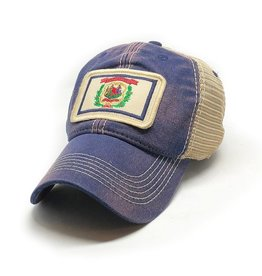 S.L. Revival Co. West Virginia Flag Trucker Hat, Navy