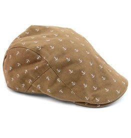 Men's Anchor Pattern Ivy Cap w Snap S/M