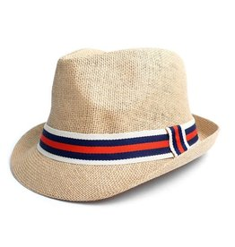 Men's Fedora, Blue/Red band L/XL