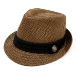 Basket Weave Fedora w Black Band