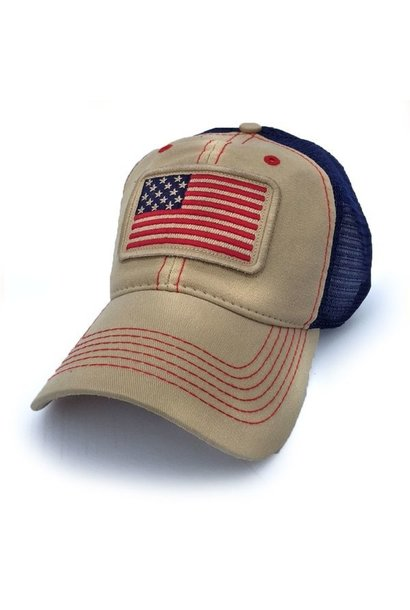 1812 USA Everyday Trucker Hat, Natural Canvas