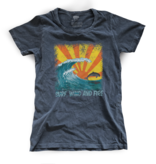 Surf, Wind and Fire SWF Jumping Dolphin Tee, Vintage Black