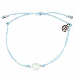 Puravida Silver Aqua Stone Bracelet, Ice Blue