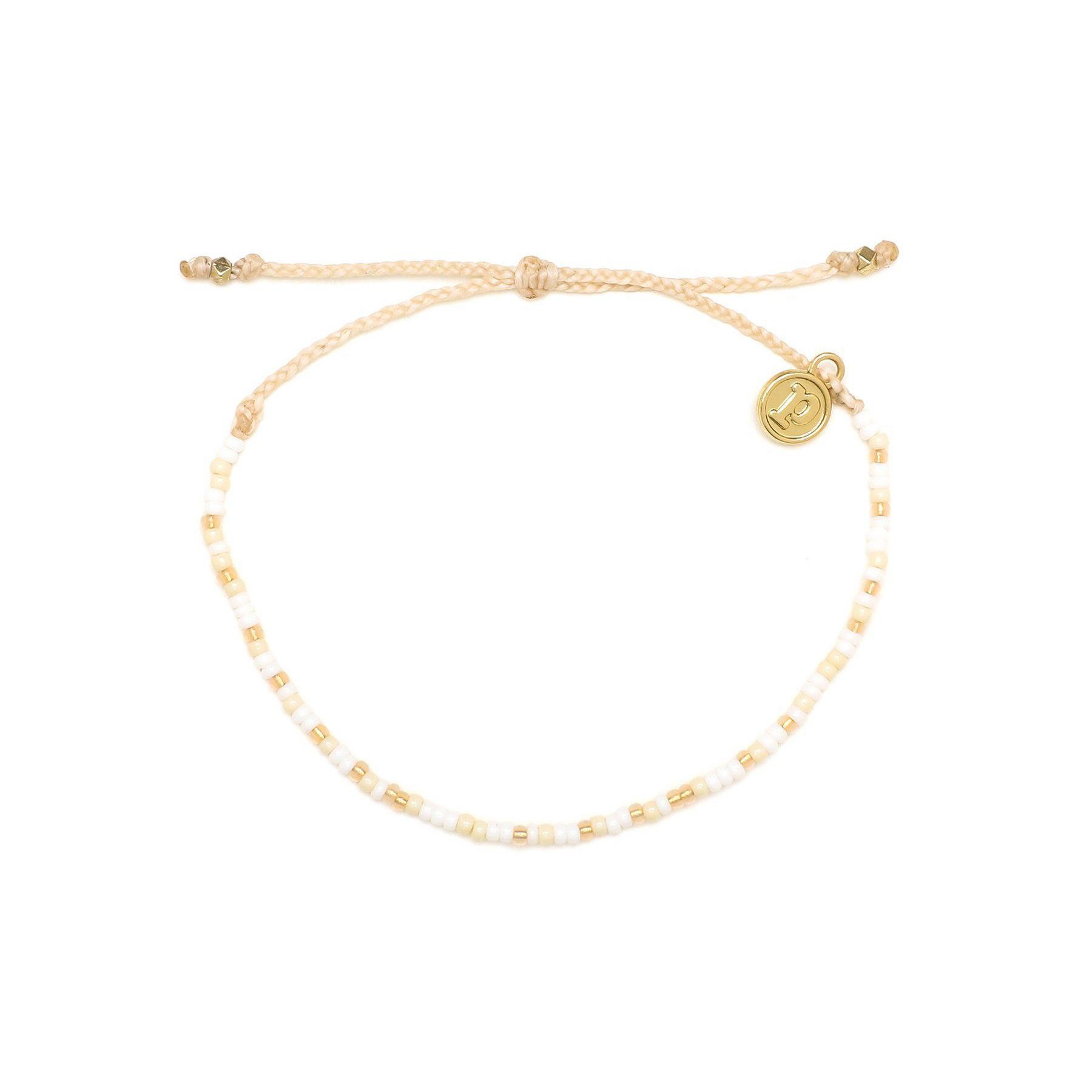 Puravida Desert Seed Bead Bracelet, White