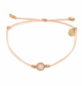 Puravida Gold Rose Quartz Bracelet, Blush