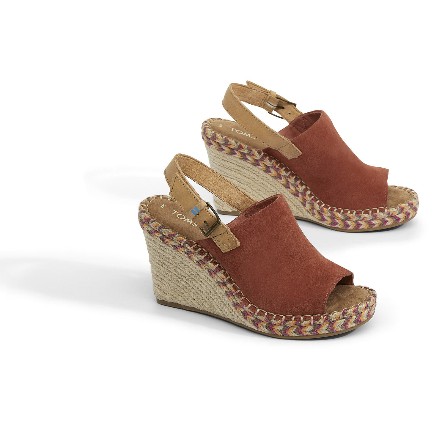TOMS W's Monica Wedge, Spice Suede/Leather